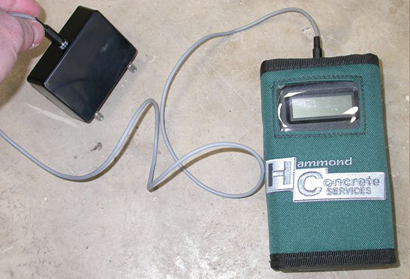 Concrete Resistivity Meter in use